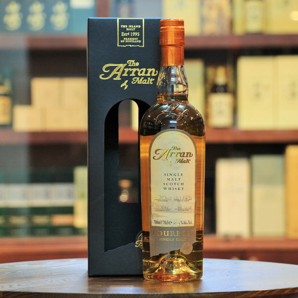 Arran Bourbon Single Cask 10 Years Scotch Whisky, A superb cask strength release from the Arran distillery. Limited to 231 bottles. Distilled June 1998 and Bottled Oct 2008.