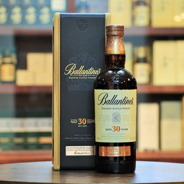 Ballantines Very Rare 30 Years Old, A brilliant blend. It won a gold medal, an ISC trophy, category champion in Blended Scotch Whisky and 92 points from Jim Murray.