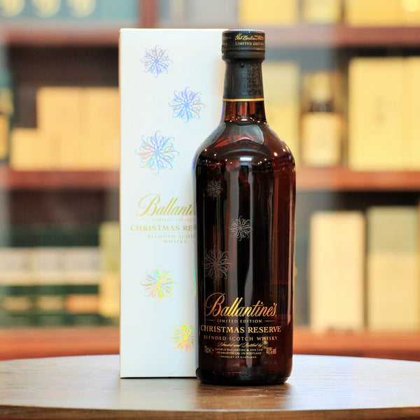 Ballantine's Christmas Reserve 2013 Limited Edition, A unique blend from the Chivas Brothers, the Ballantine's Christmas Reserve is created with the festive season in mind featuring huge sherry notes, rich dried fruits, christmas cake perfect for a celebration.