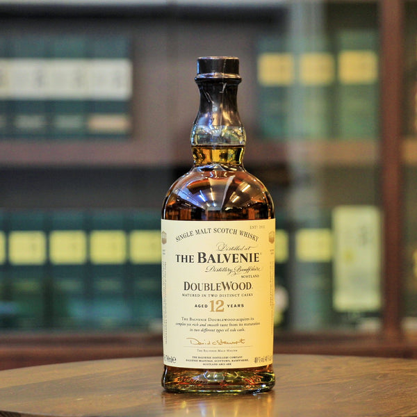 Single Malt Scotch Whisky from Balvenie, this whisky has been matured in two different kind of casks, a traditional oak cask and sherry cask.
