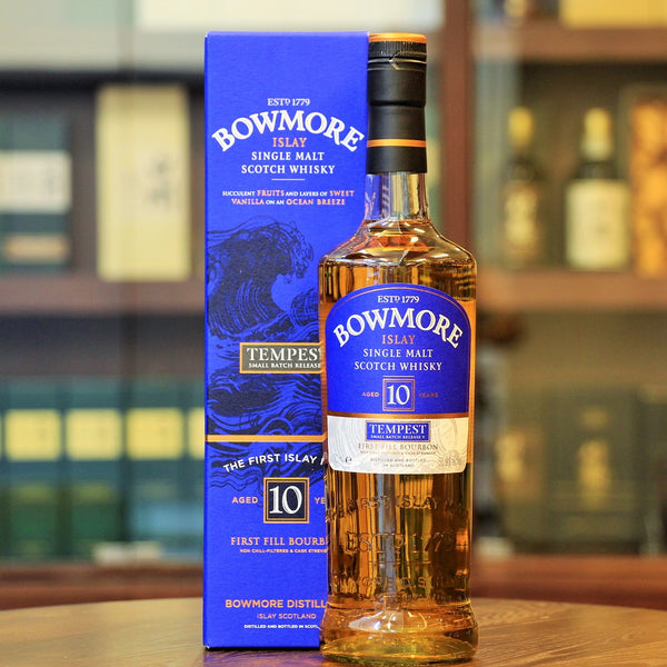 Tempest Bourbon Matured Islay peated whisky from Bowmore and available on Mizunara The Shop in Hong Kong