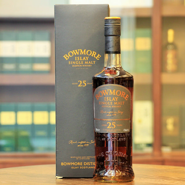 A single malt scotch whisky from Bowmore which was bottled in 2007. Available at Whisky & Spirits Shop Mizunara Hong Kong in Wong Chuk Hang