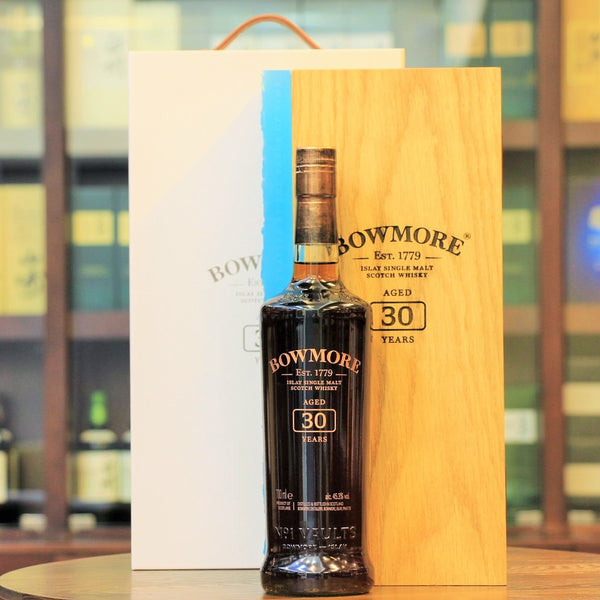 This rare single malt whisky from Bowmore is the first edition in a new annual release starting from 2020. Distilled in 1989, matured in Sherry hogsheads and Bourbon barrels for 30 years, bottled at cask strength, only 2580 bottles were released in 2020.