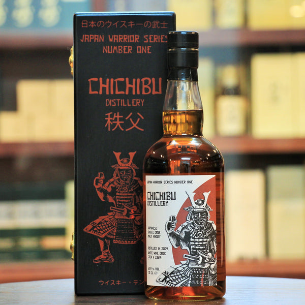 Chichibu Japan Warrior Series The First Edition Single Malt Whisky, The single cask Japan Warrior Series. Distilled in 2009, matured in a sherry puncheon until the summer of 2013 followed by white wine cask until 2017. Limited to 265 bottles.