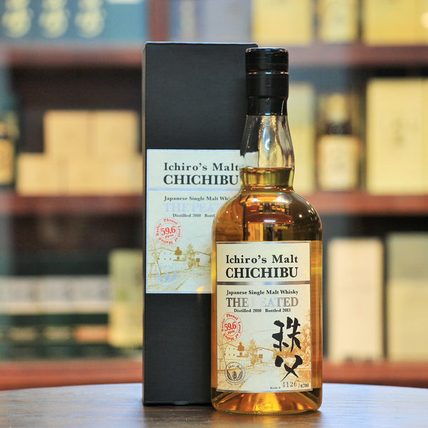 "Ichiro's Malt Chichibu The Peated 2013, The 2nd release in ""The Peated"" series and bottled at 59.6 ppm. Limited to 6700 bottles. Bottle number in picture only for reference."
