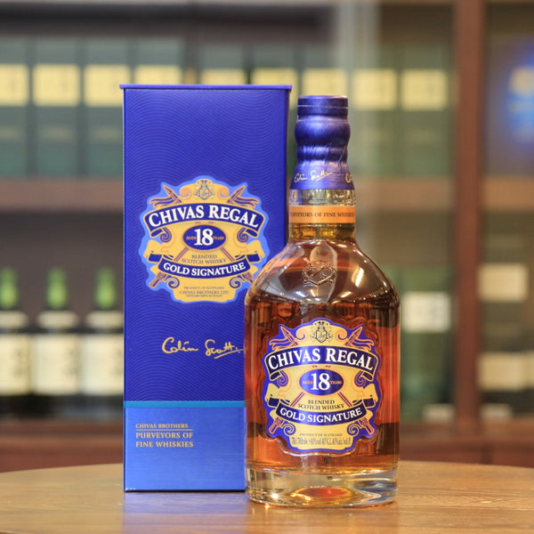 A benchmark in 18-year-old scotch blended whisky, was from Chivas Regal gold signature and featuring rich and complex flavours.