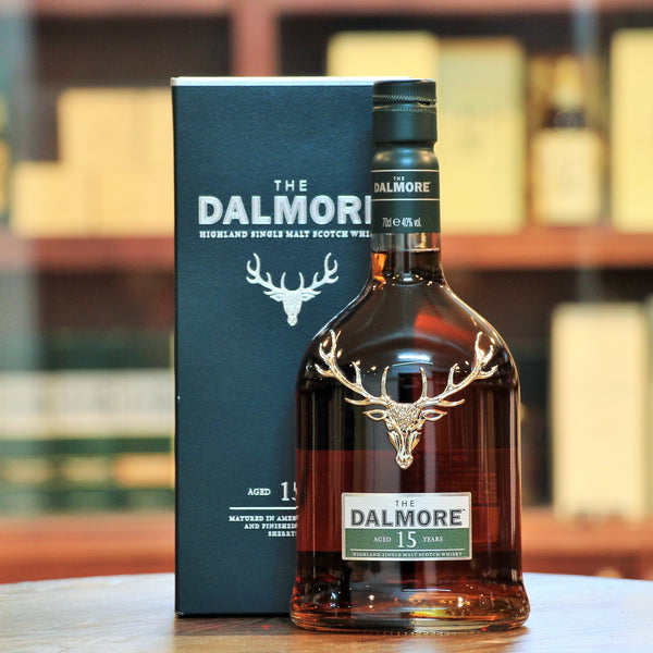 Dalmore 15 Years Old Highland Single Malt, Another absolute favourite from the House of Dalmore. Elegant and smooth, Christmas cake, cherries, cinnamon. Perfect after dinner dram.