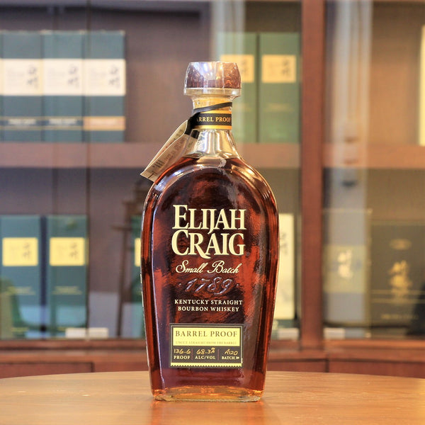 "Region: Kentucky (USA)  Distillery: Elijah Craig  Age: 12 Years Old  ABV: 68.3%  Size: 750 ml  This Elijah Craig small batch bourbon whiskey is Barrel Proof, meaning cask strength from the barrel, and non-chill filtered. Every batch of Barrel Proof is aged for 12 years in the barrel.  This Batch#A120 is botted at 136.6 proof and first releas in 2020. The first letter of the batch number indicates the order of the release for that year, starting with ""A."""
