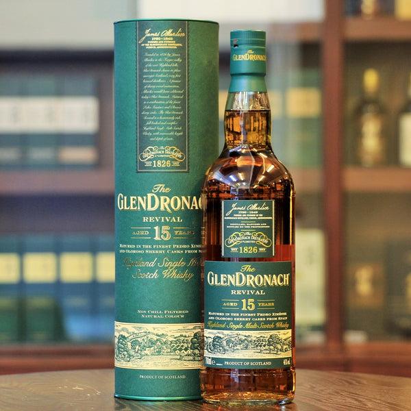 Revival 15 years old Sherry Cask Whisky from Glendronach. Buy at Mizunara The Shop in Wong Chuk Hang, Hong Kong