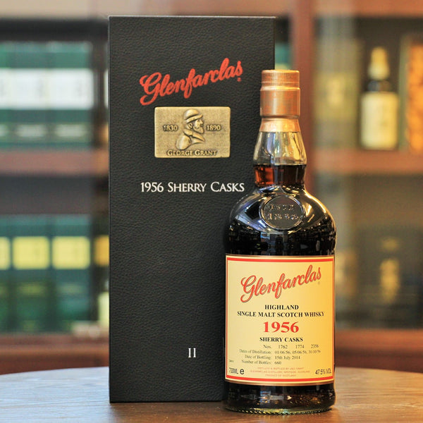 A 1956 rare and unique whisky bottling from Speyside Distillery Glenfarclas. l
