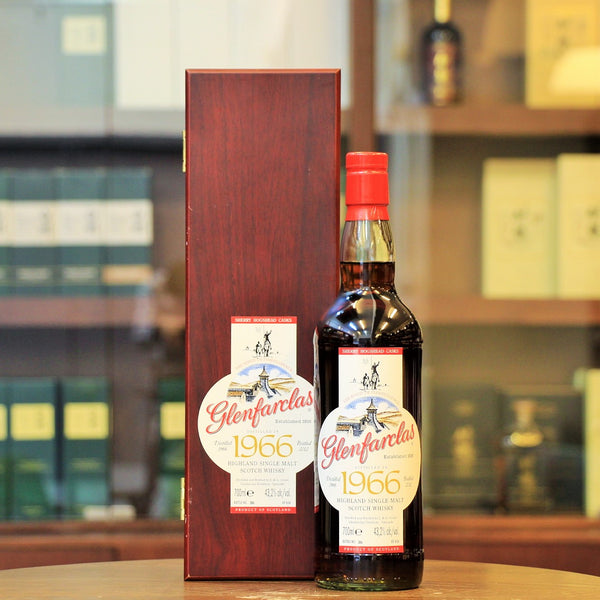 Region: Speyside (Scotland) Distillery: Glenfarclas Age: 46 Years Old ABV: 43.2% Size: 700 ml This speyside single malt Glenfarclas is vatting of four premium sherry hogshead, #2603, #2604,#3551, #3552. Distilled in 1996 at the Glenfarclas distillery and officially bottled in 2012. Only 656 bottles are released.