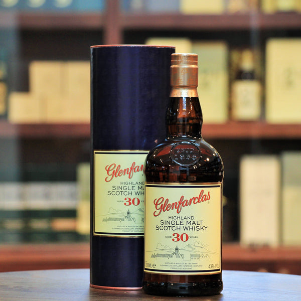 Glenfarclas 30 Years Single Malt, A brilliantly aged older bottling from Glenfarclas, reputably one of the beautifully balanced sherried whiskies.