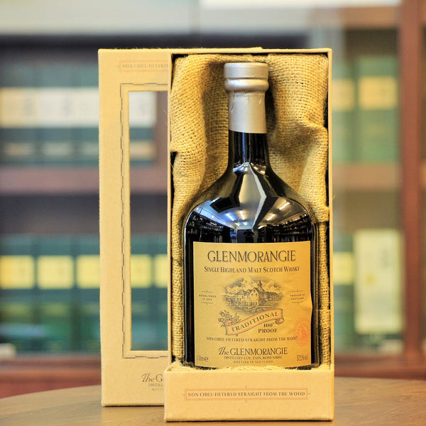 Traditional Glenmorangie Single Malt Whisky bottled at an umpressive ABV of 57.2%. Now available at Whisky Specialist shop Mizunara in Wong Chuk Hang