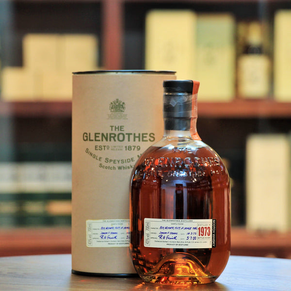 Glenrothes 1973 Single Malt 27 Years Old, A 1973 vintage whisky, rich and complex. Bottled in 2000 after 27 years. A rare find, indeed.