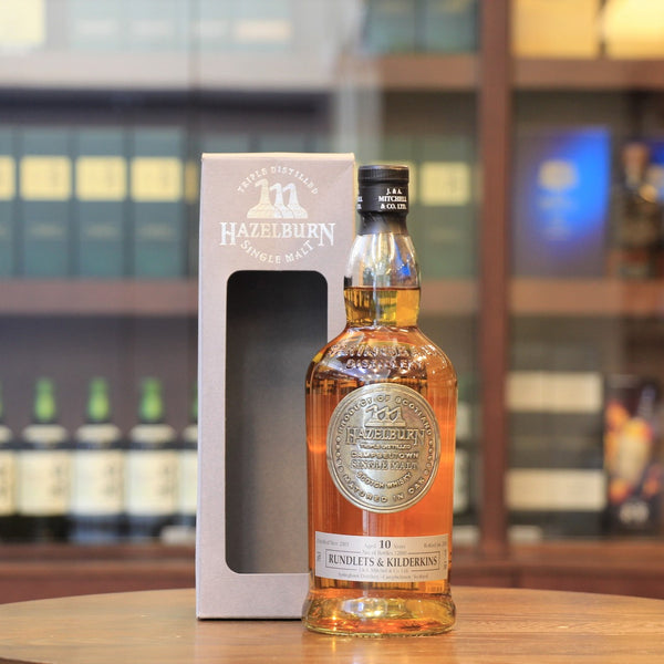 A triple distilled, unpeated style single malt whisky from Springbank distillery is a= limited editon, distilled in 2003, matured in Smaller size of casktype which is Rundlets and Kilderkins oak cask for 10 years and bottled in 2014 with 12000 bottles released.   *Rundlets and Kilderkins oak cask is a smaller size than the usual cask, with capacity of 65 litres - 80 litres respectly. Effetively, the new make spirit gets more wood contact and influence during the maturation, hence mature likely faster.