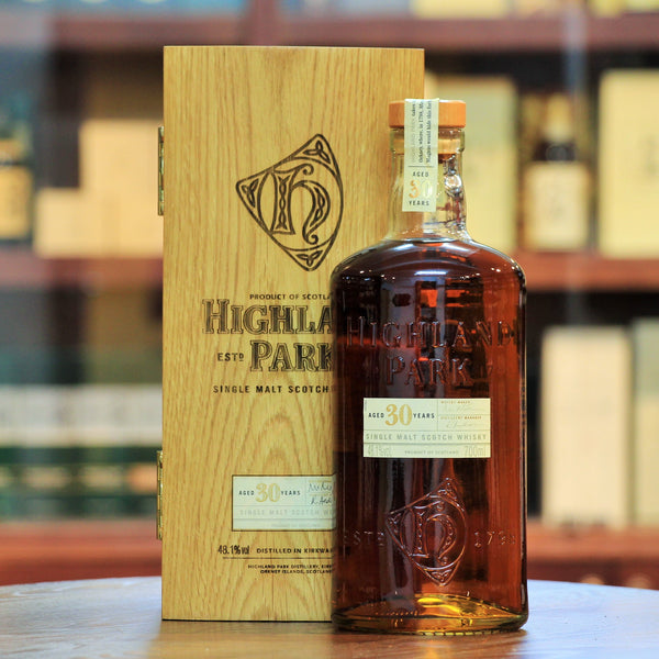 Highland Park 30 Years Old Bottled 2000s, 2000s Bottling. Whisky Bible 2010: Best Single Malt (28-34 Years); 95.5 Points. Matured in Sherry Oak and comes in a beautiful wooden box.