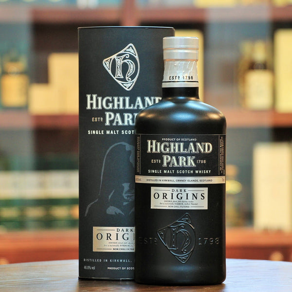 Highland Park Dark Origins Single Malt Whisky, This whisky combines a variety of Sherry Casks i.e. about 80% first fill sherry casks (60% of which is European oak and 20% American) and 20% refill sherry casks.
