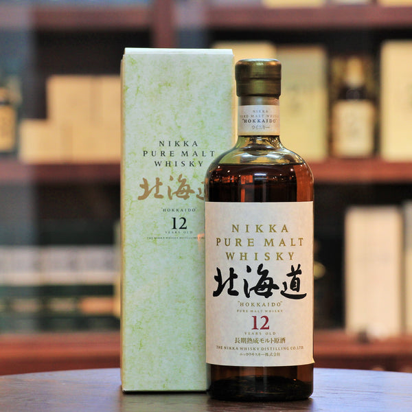 Nikka Hokkaido 12 Years Pure Malt Whisky, A vintage/discontinued bottling from Nikka using malt whisky from Yoichi.