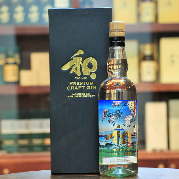 WA Japanese Premium Craft Gin, Meiri Shurui (traditionally a sake brewery), uses 10 year-aged Sake as its base with 7 botanicals such as cinnamon, lemon peel and orange peel along with juniper berries.