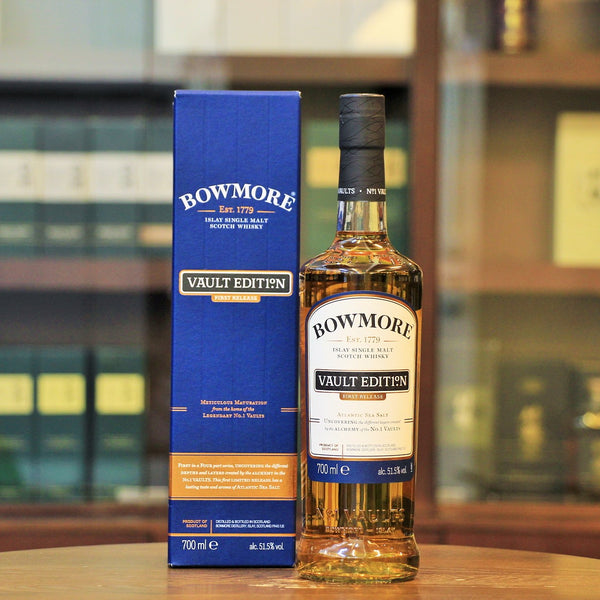 This Islay single malt from Bowmore distillery is the first release of Vault Edition which is four-part series to showcases  different layers characterise. This first edition presents the trademark - Atlantic Sea Salt of Bowmore.