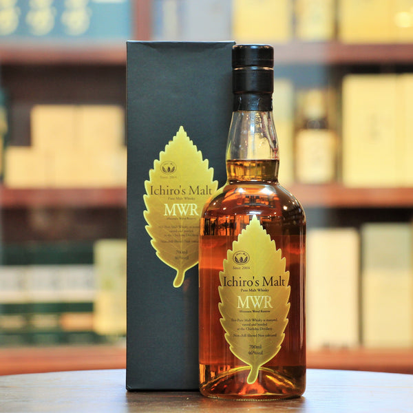 Ichiro's Malt MWR Mizunara Wood Reserve, ,A vatting of Hanyu, Chichibu and other world whisky matured in Mizunara Oak Casks. A very rare combination indeed.