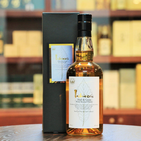 Ichiro's Malt & Grain World Blended Whisky White Leaf, This blend includes whiskies from 5 different regions, Japan, Scotland, Ireland, Canada and USA.