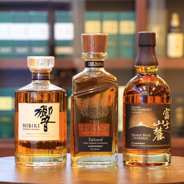 Japanese Blended Whisky (Hibiki, The Nikka, Fuji-Sanroku) Gift Set