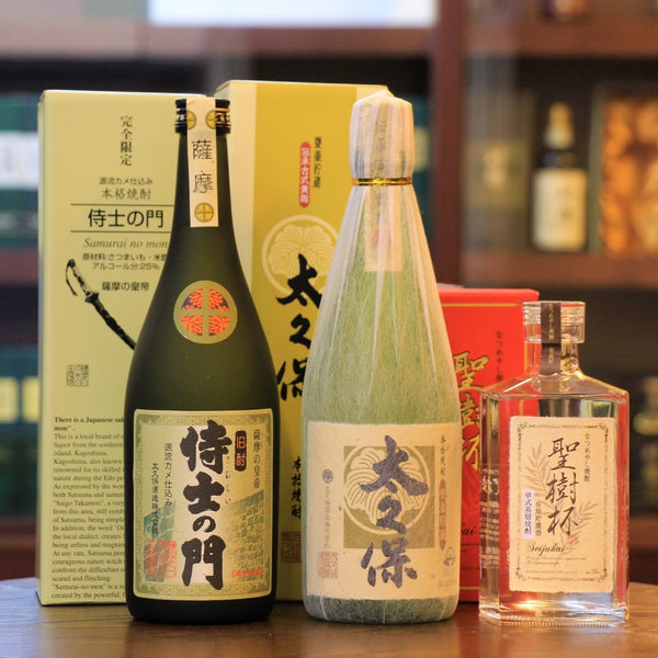 Japanese Shochu Christmas Set Samurai No Mon, Kikoji Ookubo, Seijuhai Dates, Christmas Gift