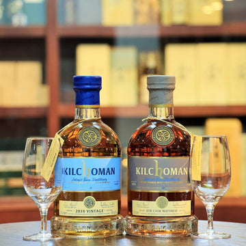 Kilchoman (2010 Vintage & STR Cask) Islay Whisky and Glasses Set