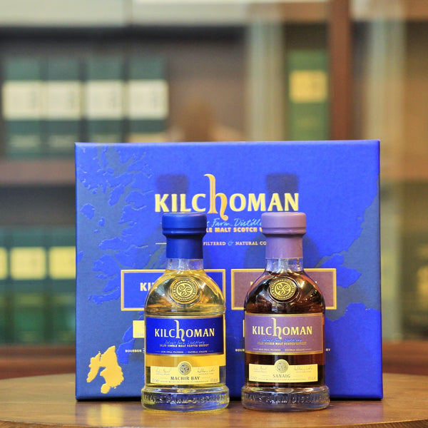 Gift box including 2 x 20 cl bottles of Kilchoman Whisky
