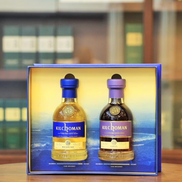 Machir Bay and Sanaig Islay Whisky Small bottle set.