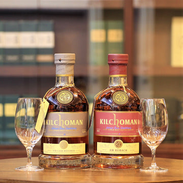 Kilchoman (STR Cask & Am Burach) Islay Whisky and Glasses Set