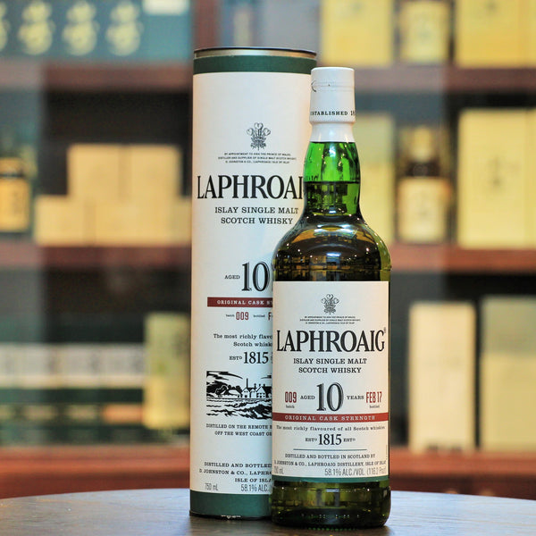Laphroaig 10 Cask Strength Batch 9, The incredibly popular cask strength versions released in limited quantities. This is the Batch 9 Release.
