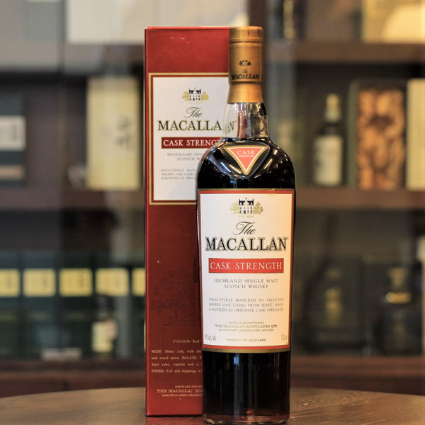 An old Macallan Whisky bottled at Cask Strength for the US market. Single Malt Scotch Whisky available exclusively at Mizunara The Shop in HK