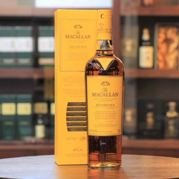 The Master Whisky Maker, Bob Dalgarno surpisingly collaborated with Master Perfumer, Roja Dove to create an impressively aromatic Macallan - The Macallan Edition No.3, which presents a sweet and fruity character with vanilla, florals and dried fruits.