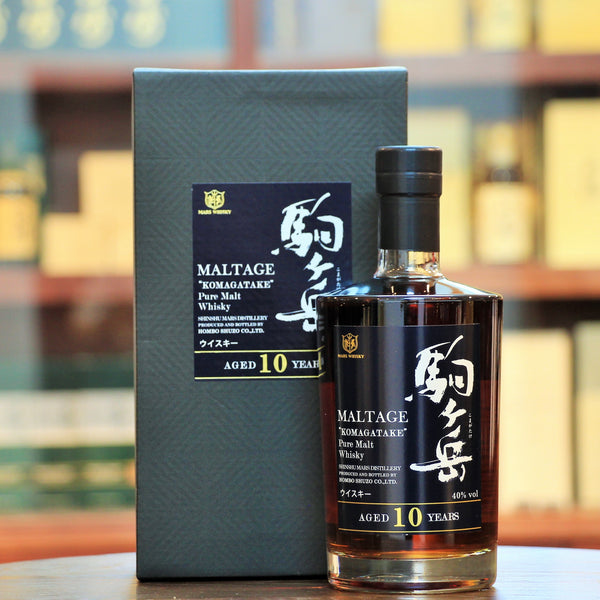 "Mars Maltage 10 Years Old Komagatake Single Malt, An old bottling from Mars under the name of ""MALTAGE"". Distilled at the highest operational distillery in Japan, and vatting carefully selected malts, the palate is reminiscent of red fruits, like cherries with a lovely finish"
