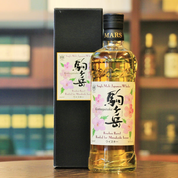 A bourbon barrel matured japanese whisky from Isetan and available at Mizunara The Shop in Hong Kong