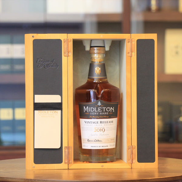 The Midleton very rare vintage release is an anual released with a limited number of bottles.