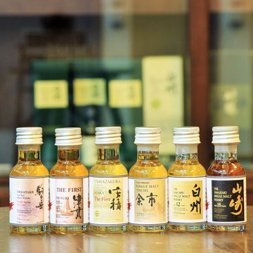 Mix of Six Japanese Single Malts (6 x 30 ml) Tasting Gift Set
