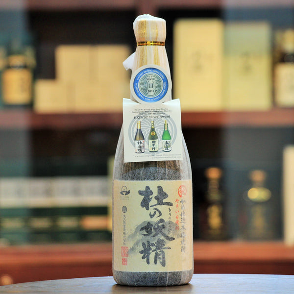 Mori No Yousei Yaki Imo (Grilled Sweet Potato) Shochu, Kagoshima Japan, It is made from baked sweet potato i.e. Yaki Imo and Black Rice Malt. Full bodied aroma of sweet potato, which also comes through on the palate.