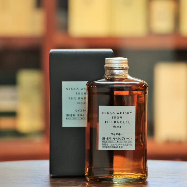 Nikka From the Barrel Blended Whisky, An excellent whisky bottled at an impressive ABV of 51.4%. Comes in its original packaging box, though the boxes may be different than indicated in the image.