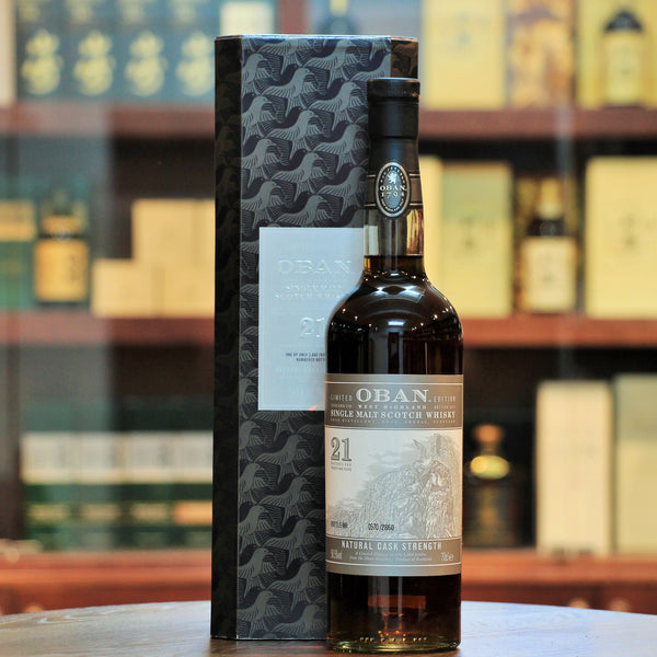 Oban 21 Limited Edition 2013 Special Release (Natural Cask Strength), Matured in rejuvenated American Oak and second fill ex-Bodega Casks, 2860 bottles were released of this special bottling in 2013. Natural Cask Strength.