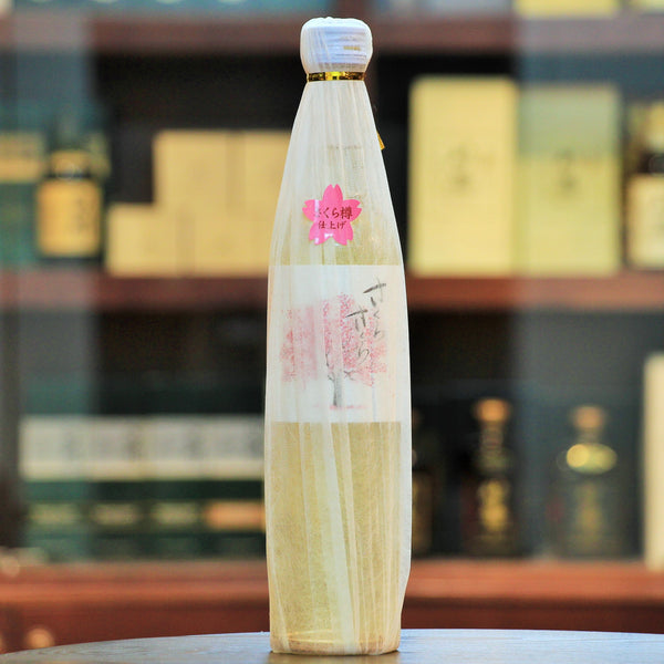 Sakura Sakura Mugi (Barley) Shochu (Limited), After 3yrs+ maturation in a tank, it's further matured for about 1yr in Sakura tree barrel. Deep and unique fresh floral aroma from Sakura tree barrel.