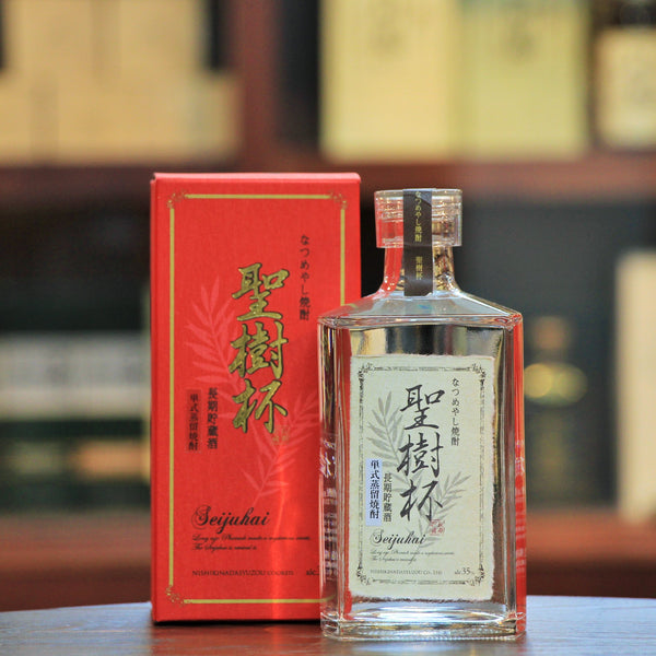 "Seijuhai Dates Shochu (Limited), ""Arak"" is known as the origin of distilled sprits. An ancient  mediterranean drink it was distilled from Dates. A special distillation process to produce Arak ""Seijuhai"" from the Japanese perspective gives a fruity aroma, mild & smooth Shochu drink.  It's 100% date Shochu."