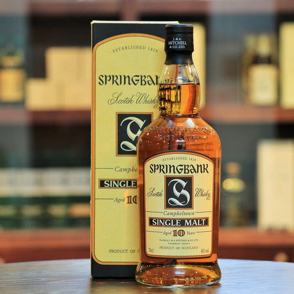 Springbank 10 Year Old Single Malt Whisky (Early 2000 Release)