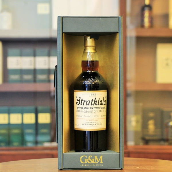 A vintaged whisky from 1965 bottled by Gordon Macphail and distilled at Strathisla Distillery.
