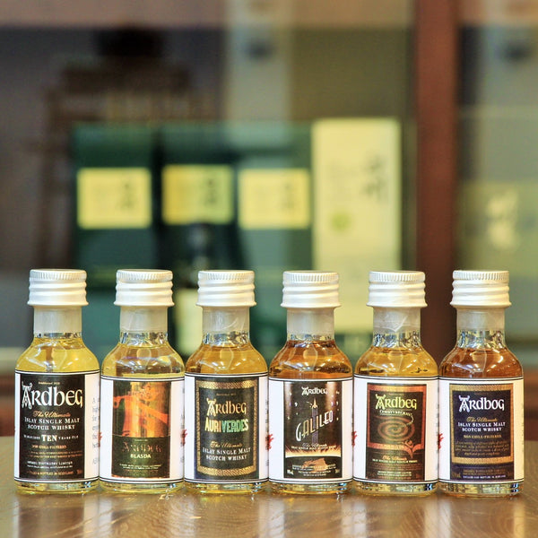 This Ardbeg Set offer a variety of cask maturations from various releases from this unique Islay distillery through the years.