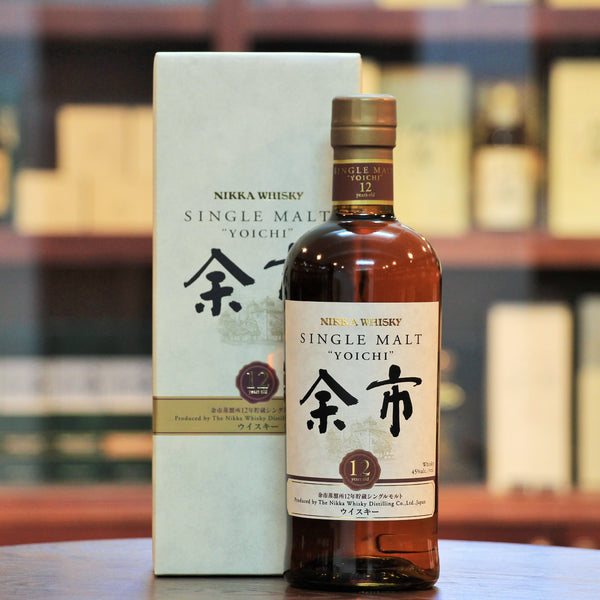 Yoichi 12 Years Old Single Malt Whisky, The Yoichi 12 years has a higher percentage of sherry casks, offering more aromatic complexity than its younger sibling, while keeping  the characteristic peat notes, with both mature oak and delicate floral aromas widening the spectrum.