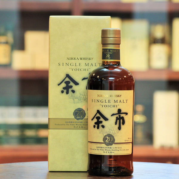 Yoichi 20 Years Old Single Malt Whisky, 95 points from Jim Murray's Whisky Bible, this is oldest age statement from Yoichi bottled at an impressive 52% ABV.