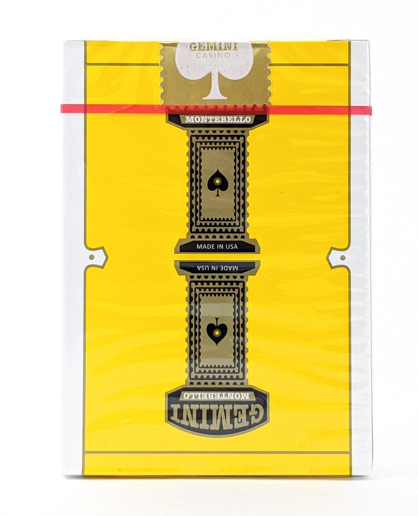 Gemini Casino Yellow - BAM Playing Cards